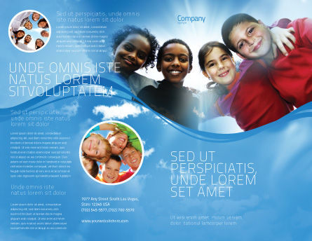 Cultural Diversity Brochure Template, Outer Page, 04914, Education & Training — PoweredTemplate.com