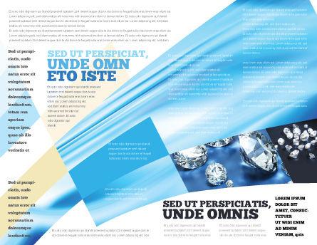 Brilliant Brochure Template, Inner Page, 04924, Careers/Industry — PoweredTemplate.com