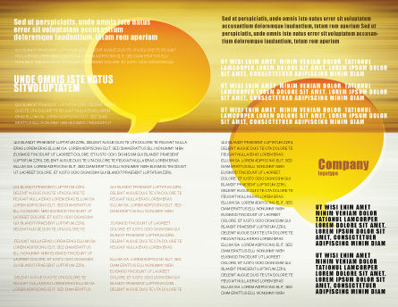 Connection Brochure Template, Inner Page, 04925, Consulting — PoweredTemplate.com