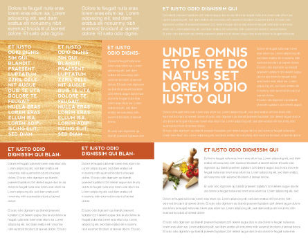 Staple Food Brochure Template Inner Page