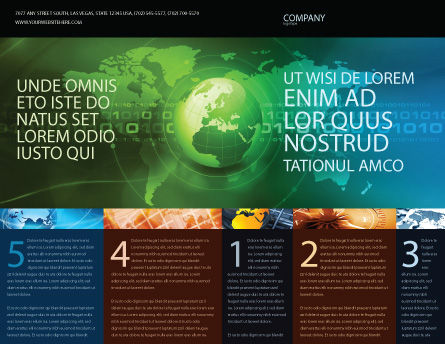 Web Over The Earth Brochure Template, Outer Page, 04970, General — PoweredTemplate.com