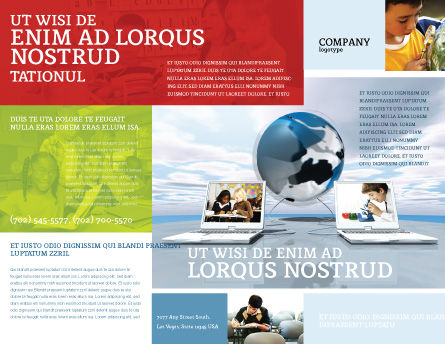 Education and Computer Brochure Template Outer Page