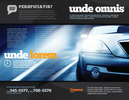 Car On the Road In Twilight Brochure Template Outer Page