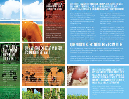 Cow Brochure Template, Inner Page, 04991, Agriculture and Animals — PoweredTemplate.com