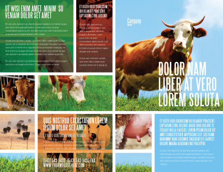 Cow Brochure Template Outer Page