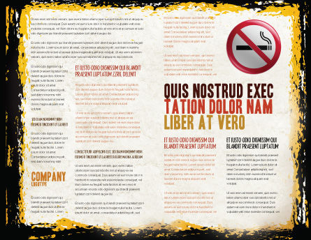 Smoking Kills Brochure Template, Inner Page, 05004, Medical — PoweredTemplate.com