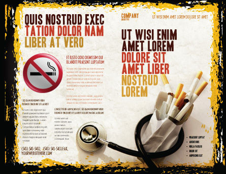 Smoking Kills Brochure Template, Outer Page, 05004, Medical — PoweredTemplate.com