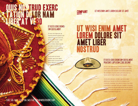 Cinco de Mayo Brochure Template Outer Page