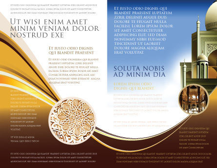 Islamic Architecture Brochure Template, Inner Page, 05013, Religious/Spiritual — PoweredTemplate.com