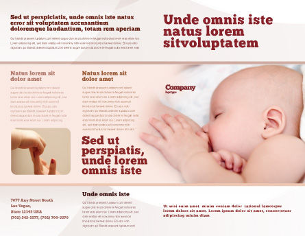 Breast Feeding Brochure Template Outer Page