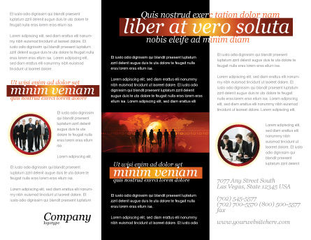 Success Story Brochure Template, Inner Page, 05060, Careers/Industry — PoweredTemplate.com