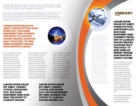 International Brochure Template, Inner Page, 05066, Global — PoweredTemplate.com