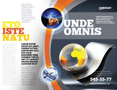 International Brochure Template, Outer Page, 05066, Global — PoweredTemplate.com