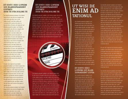 Cinema Strip Brochure Template, Inner Page, 05073, Careers/Industry — PoweredTemplate.com