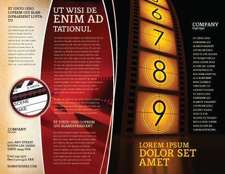 Cinema Strip Brochure Template, Outer Page, 05073, Careers/Industry — PoweredTemplate.com