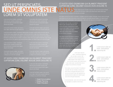 Contradiction Brochure Template, Inner Page, 05078, Consulting — PoweredTemplate.com