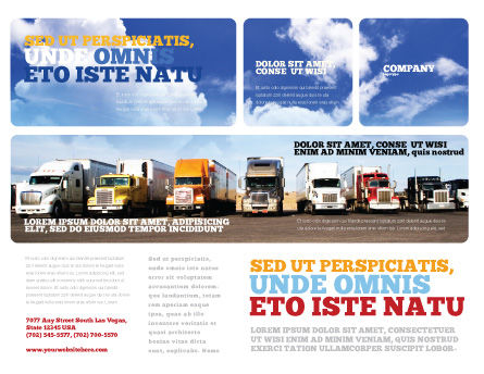 Trucks Brochure Template Outer Page