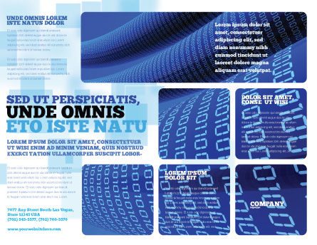 Data Transfer Wave Brochure Template, Outer Page, 05082, Technology, Science & Computers — PoweredTemplate.com