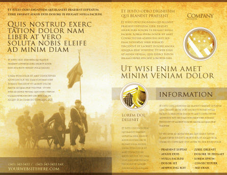American Civil War Brochure Template, Outer Page, 05086, Military — PoweredTemplate.com