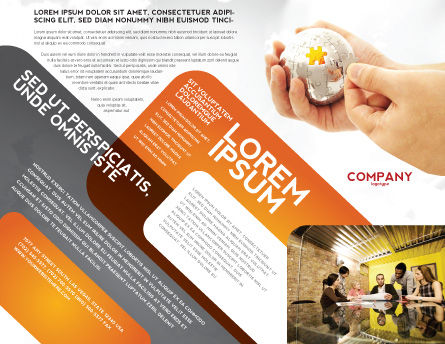 Puzzle Fixing Brochure Template, Outer Page, 05093, Business Concepts — PoweredTemplate.com