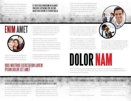 Moving Crowd Brochure Template, Inner Page, 05097, Consulting — PoweredTemplate.com