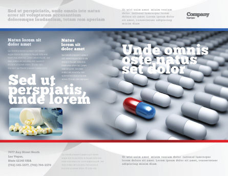Pharmacological Solution Brochure Template, Outer Page, 05100, Medical — PoweredTemplate.com