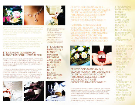 Wedding Brochure Template Inner Page