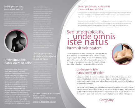 Breast Cancer Ribbon On The Naked Girl Body Brochure Template, Inner Page, 05103, Medical — PoweredTemplate.com