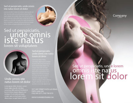 Breast Cancer Ribbon On The Naked Girl Body Brochure Template, Outer Page, 05103, Medical — PoweredTemplate.com