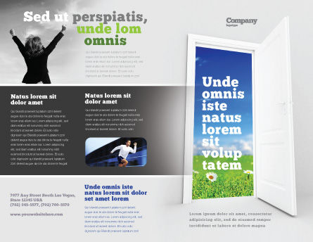 Exit Brochure Template Outer Page