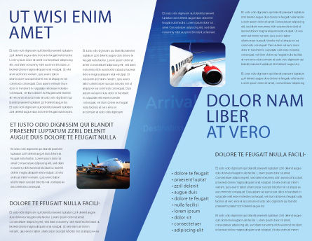 Air Vessel Brochure Template Inner Page