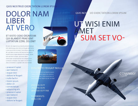 Air Vessel Brochure Template Outer Page