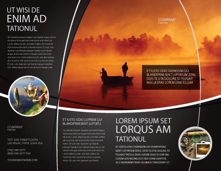 Recreational Fishing Brochure Template Outer Page