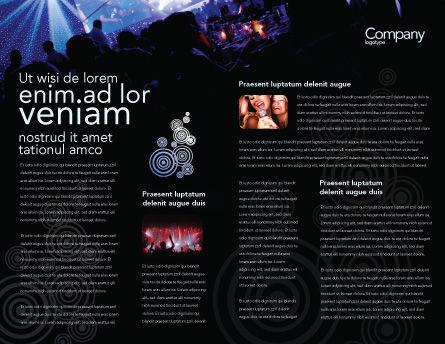 Music Show Brochure Template, Inner Page, 05126, Art & Entertainment — PoweredTemplate.com