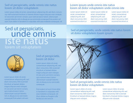 Power Lines Mast Brochure Template Inner Page