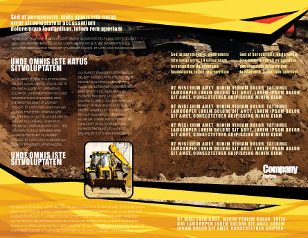 Excavator Brochure Template, Inner Page, 05136, Utilities/Industrial — PoweredTemplate.com