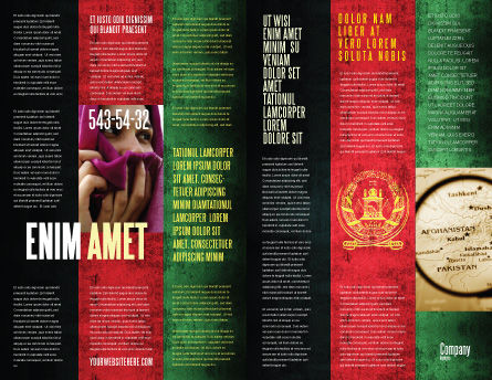 Afghanistan Brochure Template, Inner Page, 05152, Flags/International — PoweredTemplate.com