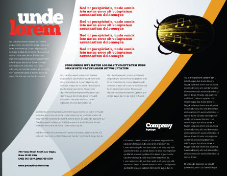 Jazz Brochure Template, Inner Page, 05158, Art & Entertainment — PoweredTemplate.com