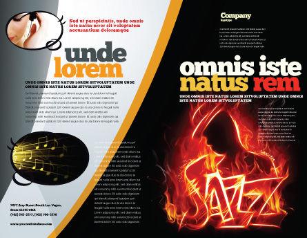 Jazz Brochure Template, Outer Page, 05158, Art & Entertainment — PoweredTemplate.com