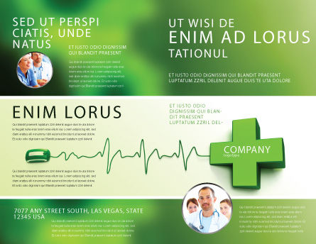 Medical Website Brochure Template, Outer Page, 05159, Medical — PoweredTemplate.com