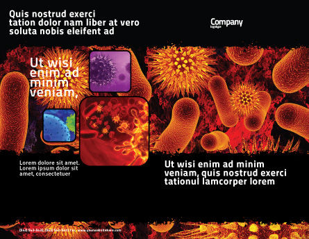 Microbiology Material Brochure Template, Outer Page, 05164, Medical — PoweredTemplate.com