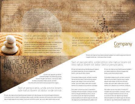 Feng Shui Stones Brochure Template, Inner Page, 05166, Religious/Spiritual — PoweredTemplate.com