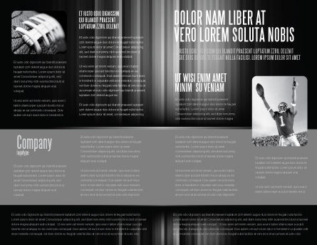 American Football Players Brochure Template Inner Page
