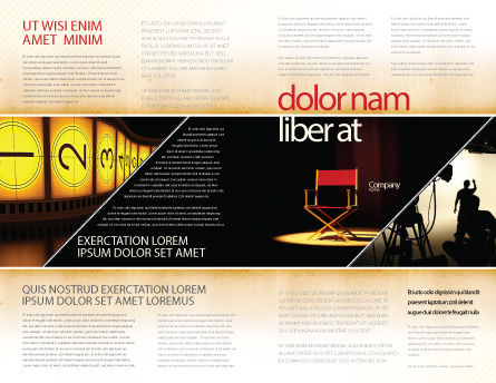 Film Director Brochure Template, Outer Page, 05179, Art & Entertainment — PoweredTemplate.com