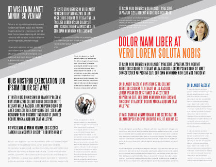 Red Question Mark Under Hand Of Man Brochure Template, Inner Page, 05202, Consulting — PoweredTemplate.com