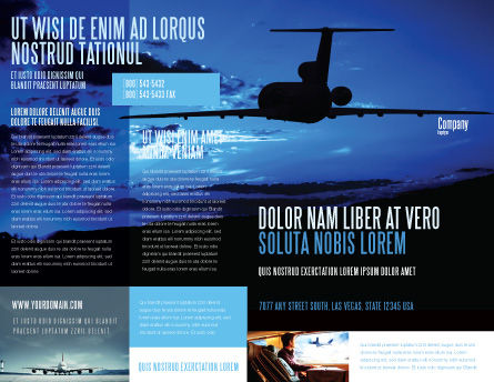 Air Flight Brochure Template Outer Page