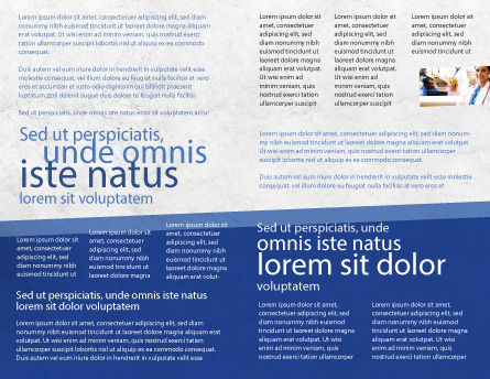 Blue Pill Brochure Template, Inner Page, 05210, Medical — PoweredTemplate.com