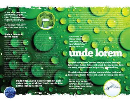 Green Water Drops Brochure Template Inner Page