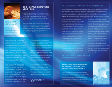 Abstract Blue Stroke Brochure Template Inner Page