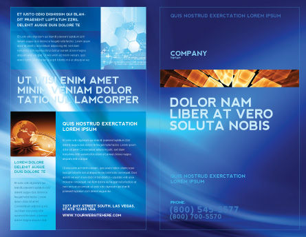 Abstract Blue Stroke Brochure Template Outer Page
